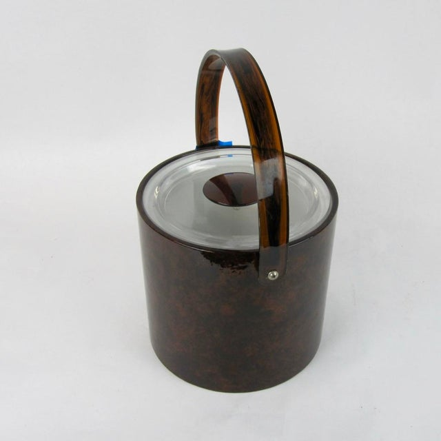 Georges Briard Vintage Georges Briard Tortoise Finish Ice Bucket For Sale - Image 4 of 9