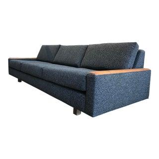 Mid Century Low Profile Sofa With Walnut Trim