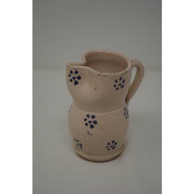 19th Century Vintage Puglia Apulia Italy Ceramic Pitcher For Sale - Image 5 of 7