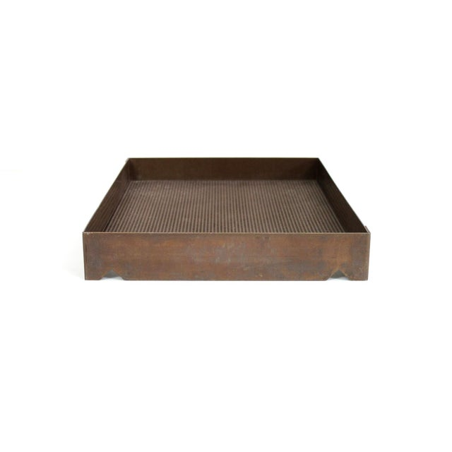 Architectural Bronze Mesh Letter Tray For Sale - Image 13 of 13