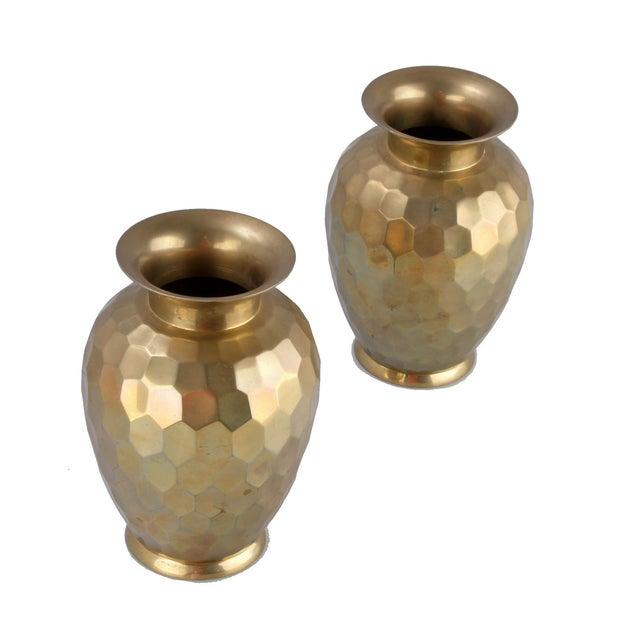 Decorative Brass Vases - Pair - Image 3 of 7
