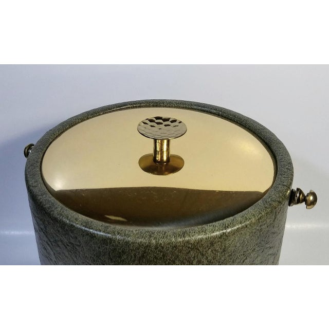 1960s 1960s Mid-Century Modern Green & Gold Ice Bucket For Sale - Image 5 of 9