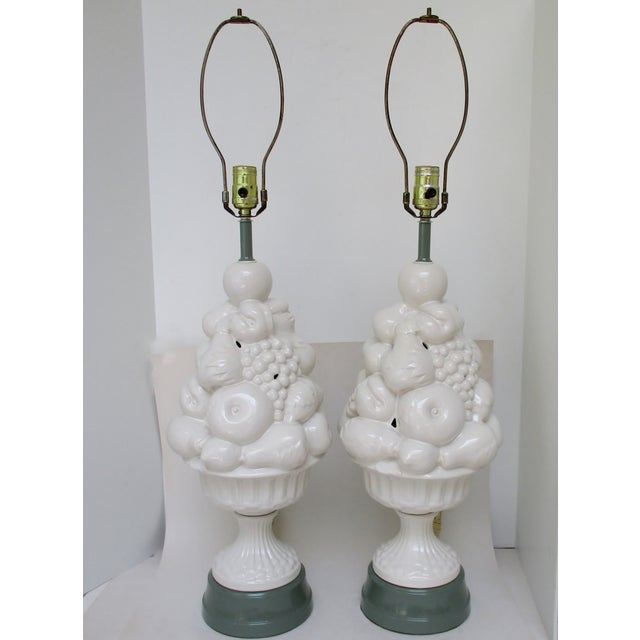 Ceramic Topiary Lamps - a Pair - Image 2 of 5