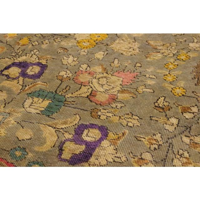 Textile Vintage Distressed Color Reform Sylvester Gray/Brown Wool Rug - 9'9 X 12'10 For Sale - Image 7 of 8
