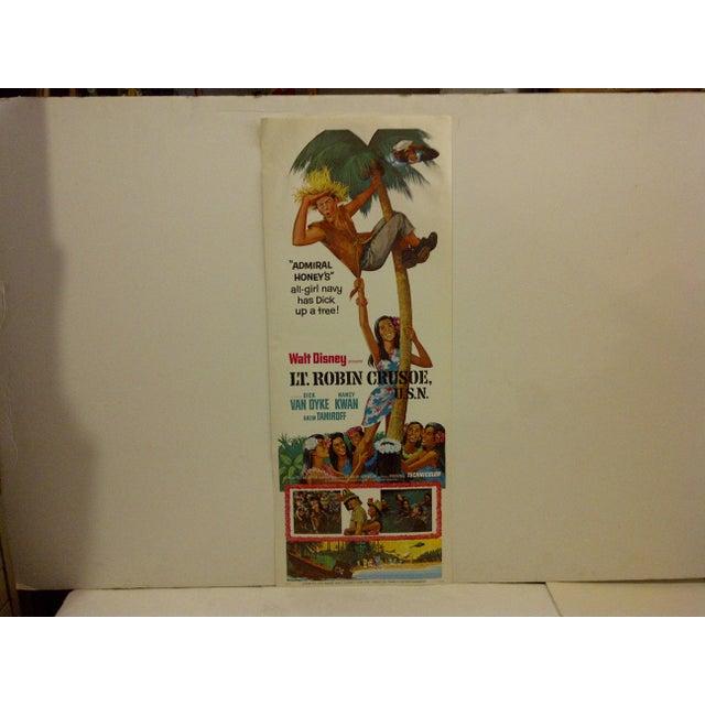 "Mid-Century Modern ""Lt. Robin Crusoe, U.S.N."" Vintage Movie Poster For Sale - Image 3 of 5"