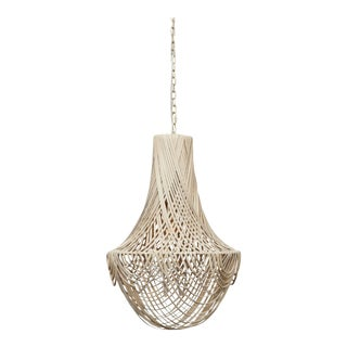 Empire Leather Chandelier - Small For Sale