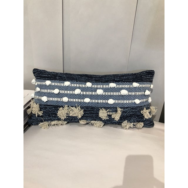 Boho Chic Kenneth Ludwig Chicago Blue Pillow For Sale In Chicago - Image 6 of 6