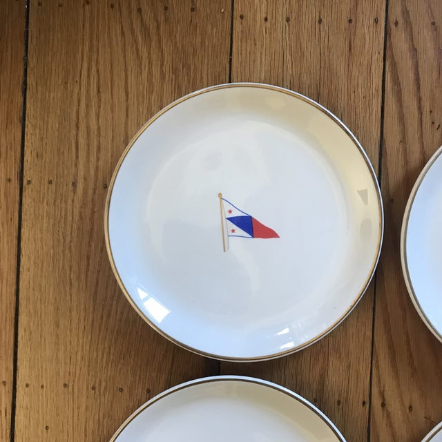 1960s Vintage Syracuse China Yacht Club Plates - Set of 6 For Sale - Image 5 of 13