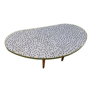 1960s Mid Century Modern Mosaic Tile Coffee Table For Sale