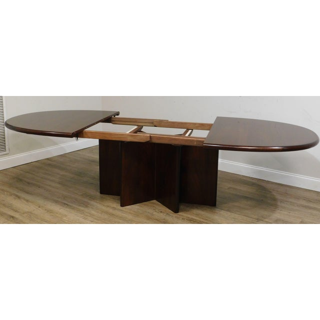 Brown Danish Modern Oval Teak Expandable Dining Table by Ansagar Mobler For Sale - Image 8 of 13