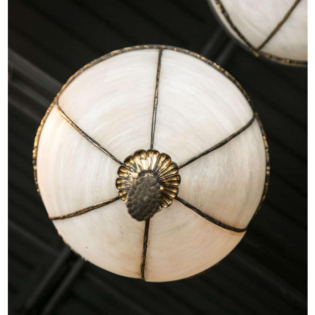1900 - 1909 1900s Caldwell Leaded Glass Lanterns - a Pair For Sale - Image 5 of 9