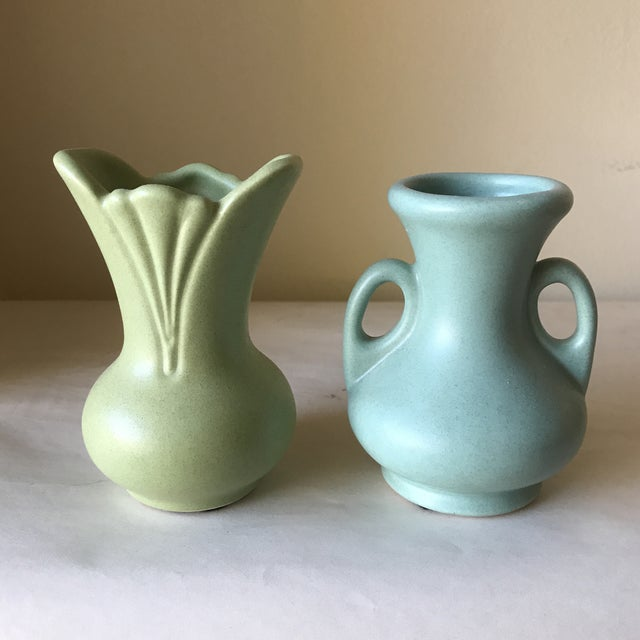 petite ceramic vases a pair chairish. Black Bedroom Furniture Sets. Home Design Ideas