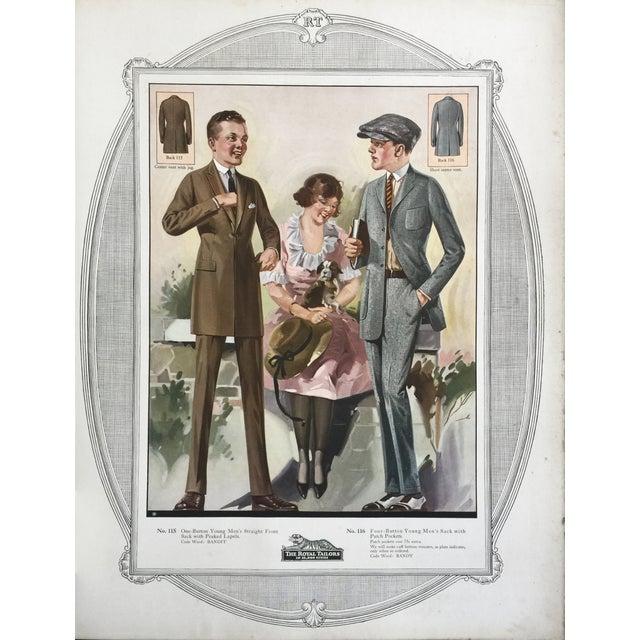 1923 Tailor's Fashion Print For Sale