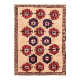 """Tribal Afghan Rug, 6'10"""" X 9'4"""" For Sale"""