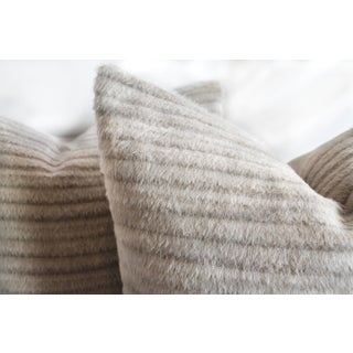 Pure Alpaca and Linen Decorative Accent Pillows in Soft Pale Taupe Preview