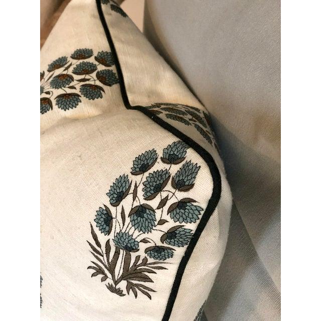 Custom Muriel Brandolini Silk Throw Pillow For Sale - Image 4 of 5