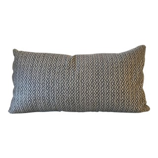 Silver Fortuny Tapa Lumbar Pillow For Sale