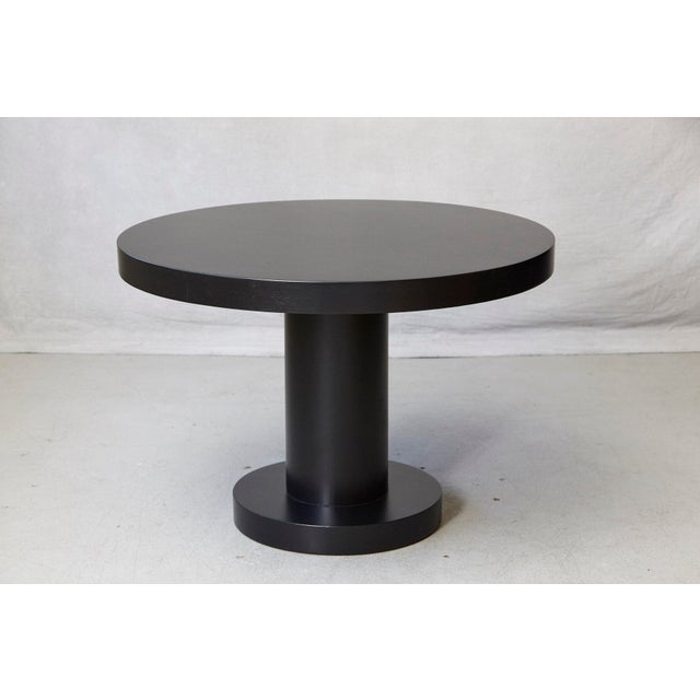 Black Modern Puristic Oak Center Table in New Black Finish, 1960s For Sale - Image 8 of 12