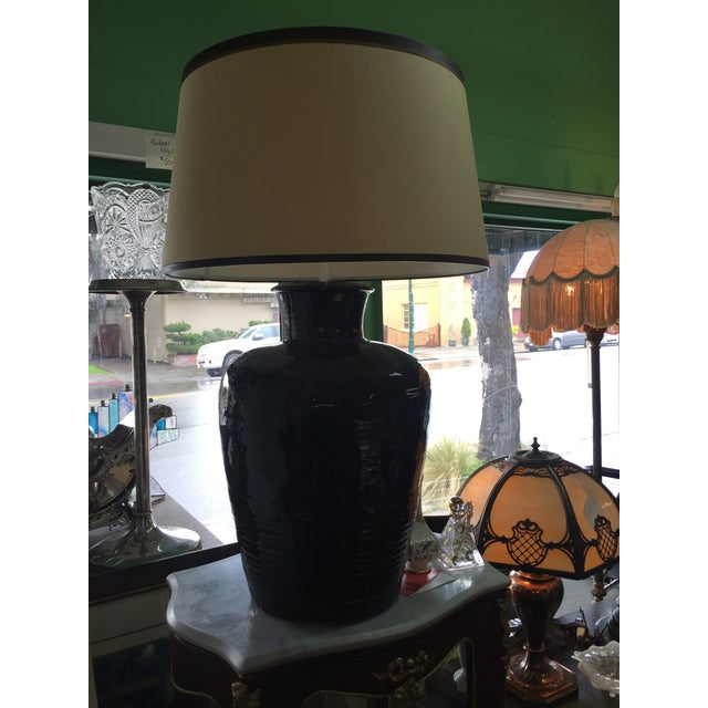 Antique Storage Jar Lamps a Pair For Sale - Image 9 of 10
