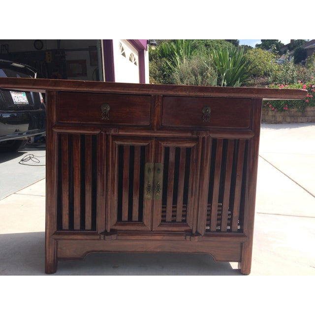 Asian Solid Wood Cabinet - Image 4 of 9