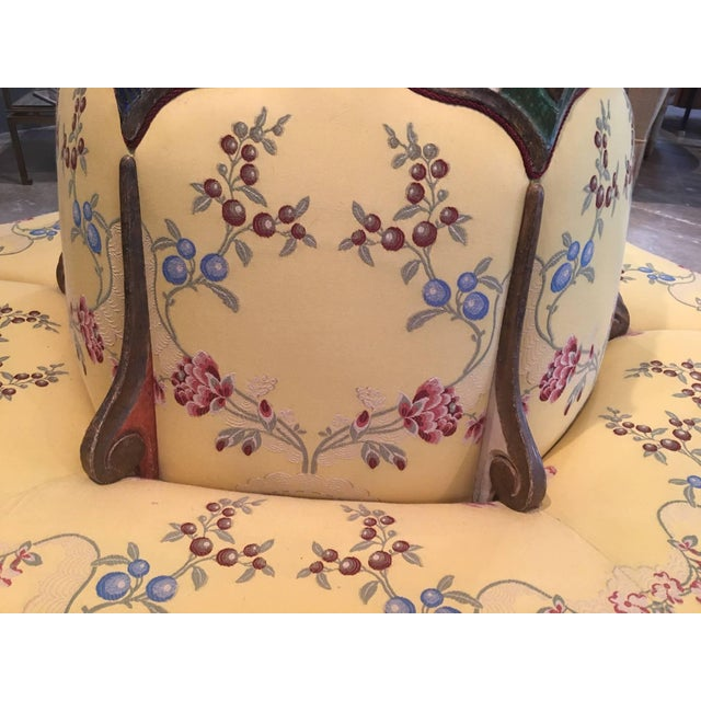 Italian Exceedingly Rare Pair of Upholstered and Handpainted Sicilian Late 18th Century For Sale - Image 3 of 8