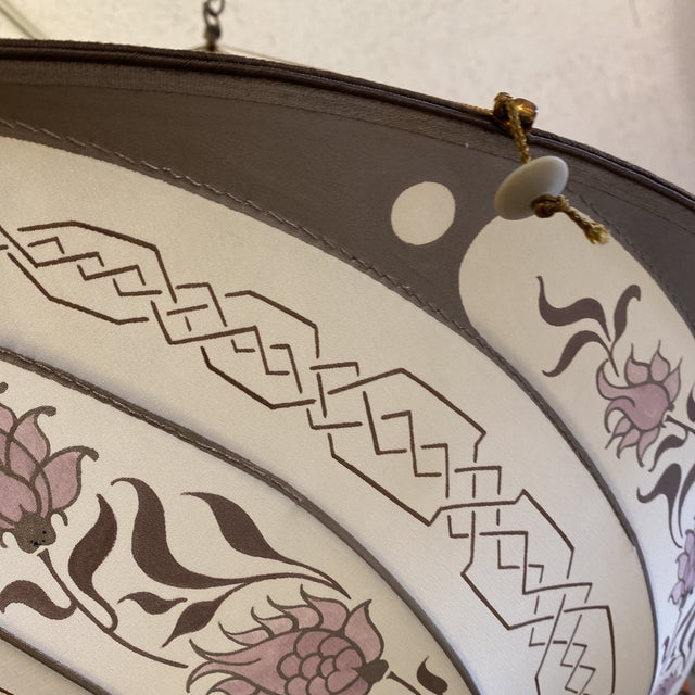 Fortuny Custom Scudo Saraceno Carduus Pendant in Light Pink For Sale In San Francisco - Image 6 of 10