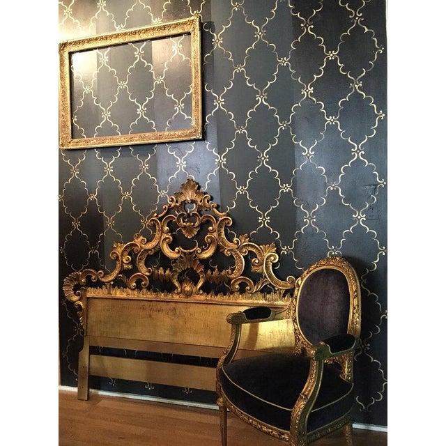 Florentine Gilded Rococo Headboard - Image 4 of 7