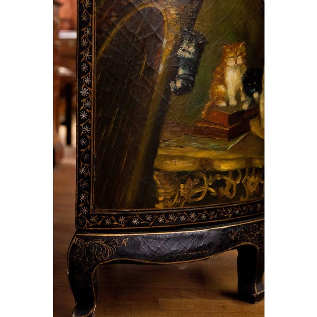 19th Century 19th Century Painted Corner Cupboard For Sale - Image 5 of 10