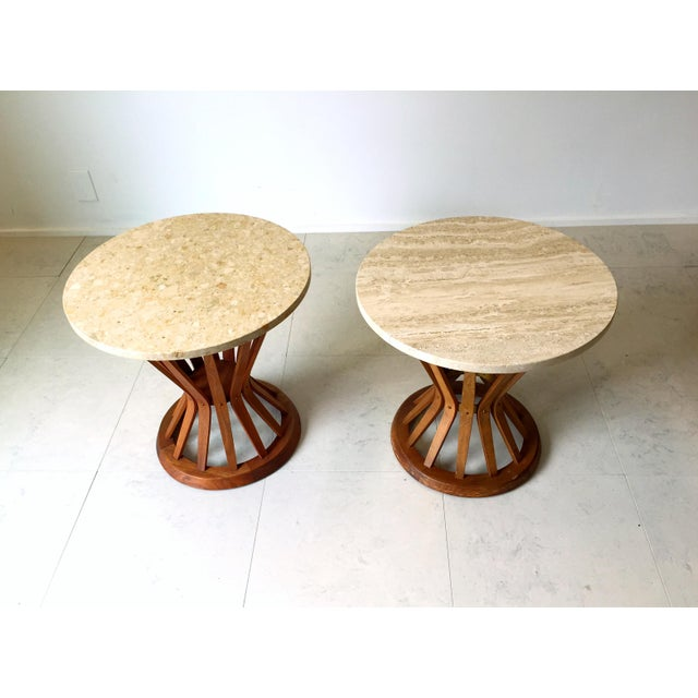 Edward Wormley for Dunbar Wheat Tables - Pair - Image 3 of 6