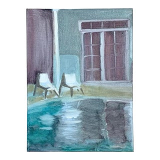Beach House Pool Cabana Painting For Sale