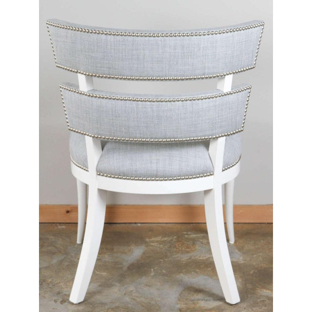 Wood Paul Marra Klismos Style Chair For Sale - Image 7 of 7