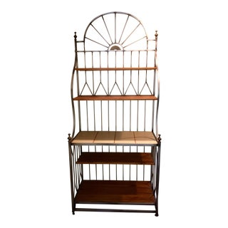Drexel Solstice Iron Frame Bakers Rack For Sale