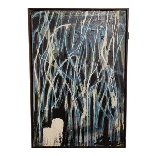 Mid Century Modern Abstract Lehn Painting For Sale