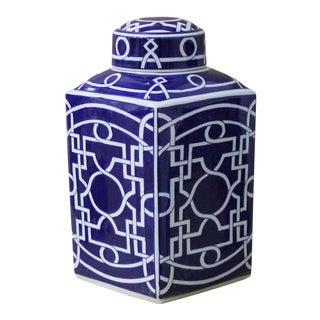 Sarried Ltd Blue & White Jar For Sale
