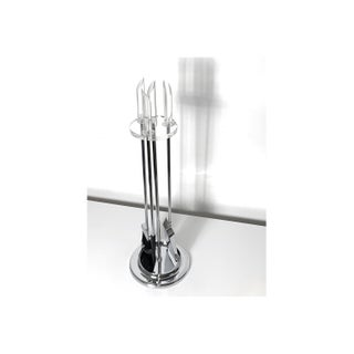 Modern Chrome and Lucite Fire Tool Set Preview