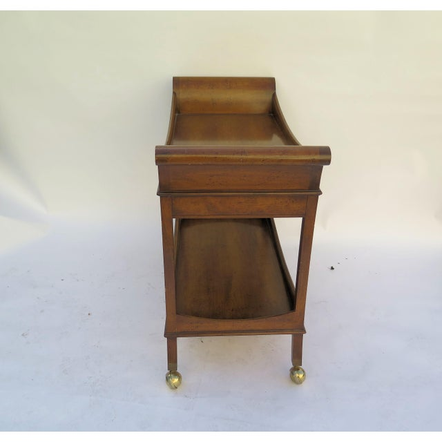 1960's Monumental Maple Wood Bar Cart For Sale - Image 5 of 6