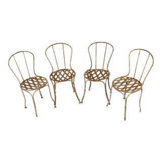 19th Century French Garden Chairs - Set of 4 For Sale