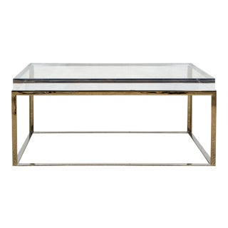 Gretchen Everett Acrylic and Stainless Steel Coffee Table For Sale