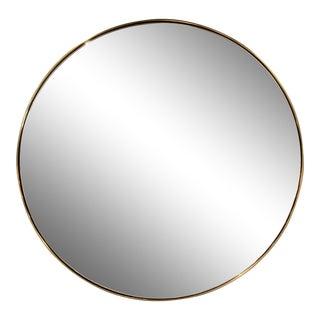 "Contemporary Round 30"" Brass Mirror For Sale"