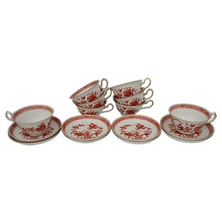 Royal Crown Derby Chinoiserie Tea Service S/8 For Sale