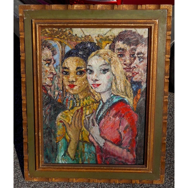 A striking and beautiful modernist painting by listed French artist Henri Schick (Paris 1870-1946) from an upscale south...