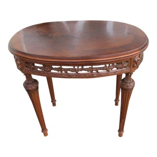 1940s American Classical Oval Side Table For Sale