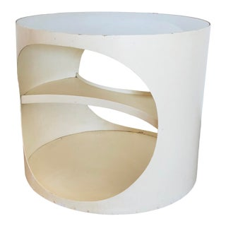 1960s Space Age Modern Nebu White Bentwood Side Table For Sale