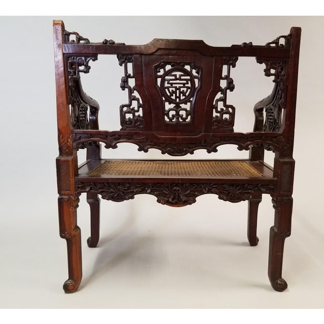 C. 1900 Pair of Chinese Carved Benches For Sale - Image 4 of 10
