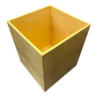 Natural Beige Goat Parchment Bin For Sale