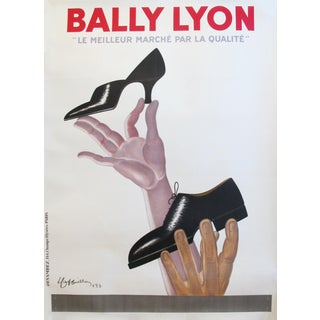 Original Vintage Art Deco French Poster, 1930s, Cappiello, Bally For Sale