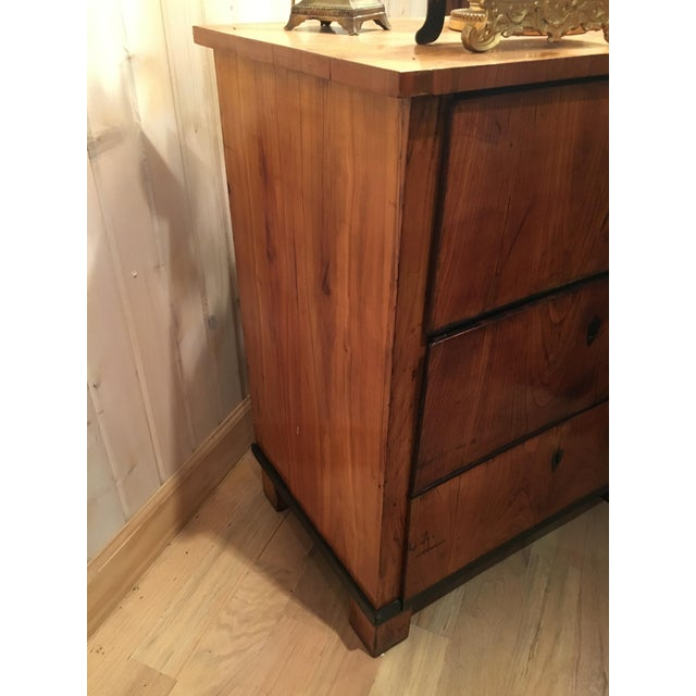 Italian Fruitwood Neoclassical Three-drawer Chest For Sale - Image 10 of 10