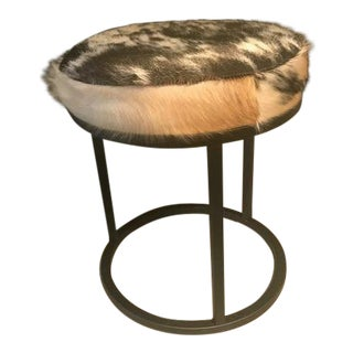 Modern CB2 Cowhide Stool For Sale