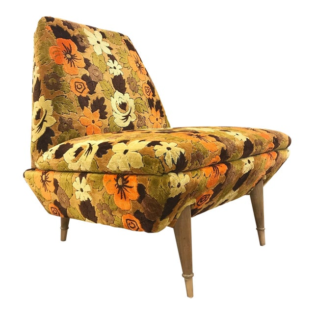 Italian Mid Century Modern Lounge Chair For Sale