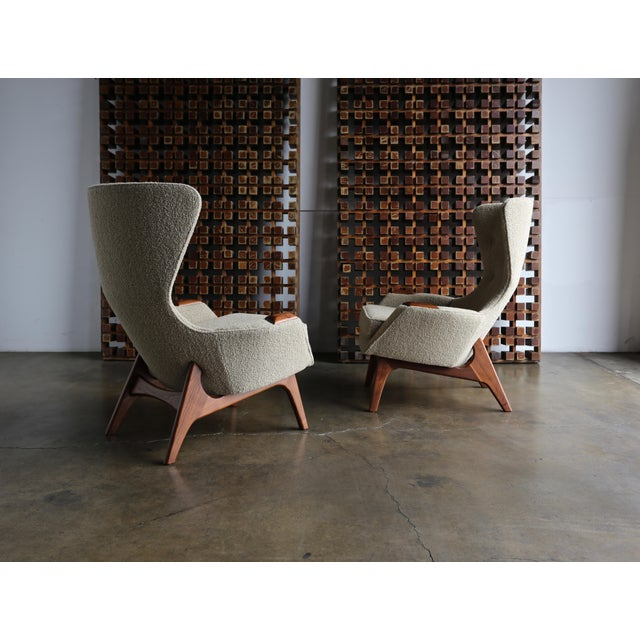 Adrian Pearsall for Craft Associates Wing High Back Chairs - a Pair For Sale - Image 13 of 13